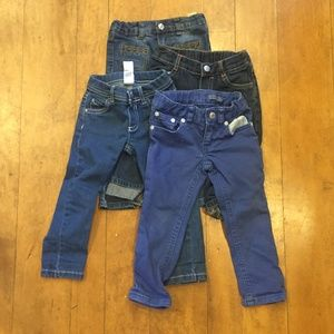 4 Pairs Toddler 2T Jeans - RL, 7 for All Mankind